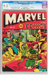 Marvel Mystery Comics #12 (Timely, 1940) CGC NM- 9.2 Cream to off-white pages