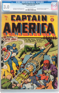 Captain America Comics #3 (Timely, 1941) CGC GD/VG 3.0 Cream to off-white pages