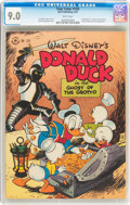 Golden Age (1938-1955):Cartoon Character, Four Color #159 Donald Duck (Dell, 1947) CGC VF/NM 9.0 White pages....