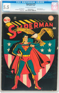 Golden Age (1938-1955):Superhero, Superman #14 (DC, 1942) CGC FN- 5.5 Off-white to white pages....