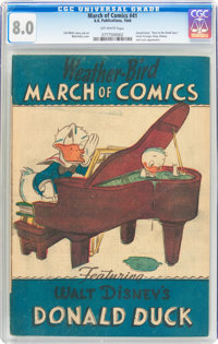 March of Comics #41 Donald Duck (K. K. Publications, Inc., 1949) CGC VF 8.0 Off-white pages