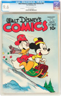 Golden Age (1938-1955):Cartoon Character, Walt Disney's Comics and Stories #41 (Dell, 1944) CGC NM+ 9.6 Off-white to white pages....
