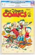 Golden Age (1938-1955):Cartoon Character, Walt Disney's Comics and Stories #88 (Dell, 1948) CGC NM- 9.2 Off-white pages....