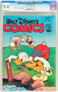 Golden Age (1938-1955):Cartoon Character, Walt Disney's Comics and Stories #57 (Dell, 1945) CGC NM 9.4 Cream to off-white pages....