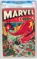 Golden Age (1938-1955):Superhero, Marvel Mystery Comics #47 (Timely, 1943) CGC FN- 5.5 Light tan to off-white pages....