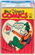 Golden Age (1938-1955):Cartoon Character, Walt Disney's Comics and Stories #5 (Dell, 1941) CGC FN- 5.5 Off-white pages....