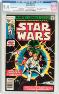 Bronze Age (1970-1979):Science Fiction, Star Wars #1 35¢ Variant (Marvel, 1977) CGC NM 9.4 Off-white towhite pages....
