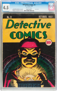 Detective Comics #8 (DC, 1937) CGC VG+ 4.5 Off-white pages