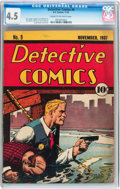 Golden Age (1938-1955):Superhero, Detective Comics #9 (DC, 1937) CGC VG+ 4.5 Cream to off-white pages....
