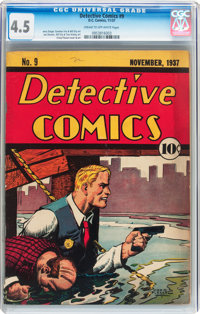 Detective Comics #9 (DC, 1937) CGC VG+ 4.5 Cream to off-white pages