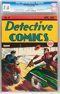 Detective Comics #16 Billy Wright Pedigree (DC, 1938) CGC FN/VF 7.0 White pages
