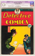 Golden Age (1938-1955):Crime, Detective Comics #21 (DC, 1938) CGC Apparent VG/FN 5.0 Slight (A) Cream to off-white pages....