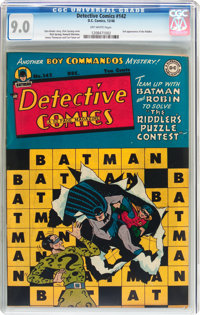 Detective Comics #142 (DC, 1948) CGC VF/NM 9.0 Off-white pages