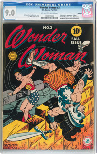 Wonder Woman #2 Rockford Pedigree (DC, 1942) CGC VF/NM 9.0 Off-white to white pages