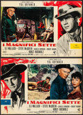 """Movie Posters:Western, The Magnificent Seven (United Artists, 1961). Italian Photobustas (7) (18.25"""" X 26.""""5). Western.. ... (Total: 7 Items)"""