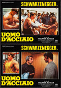 """Movie Posters:Documentary, Pumping Iron (DMV, 1986). First Release Italian Photobusta Set of 4 (19"""" X 26.25""""). Documentary.. ... (Total: 4 Item)"""