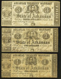 Obsoletes By State:Arkansas, (Little Rock), AR- State of Arkansas $1; $2; $3 1862-64 Cr. 34; 40; 42A. ... (Total: 3 notes)