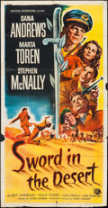 """Movie Posters:War, Sword in the Desert & Others Lot (Universal International,1949). Three Sheet (41"""" X 79.5""""), One Sheets (5) (27"""" X 41""""), &L... (Total: 10 Items)"""