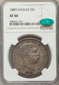 Coins of Hawaii , 1883 $1 Hawaii Dollar XF40 NGC. CAC. NGC Census: (63/293). PCGSPopulation (172/466). Mintage: 46,348. ...