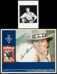 """Clint Eastwood in Bronco Billy & Other Lot (Warner Brothers, 1980). Autographed Lobby Card (11"""" X 14"""") &am..."""