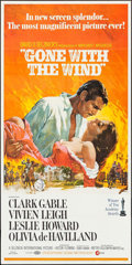 "Movie Posters:Academy Award Winners, Gone with the Wind (MGM, R-1968). Three Sheet (41"" X 79""). AcademyAward Winners.. ..."