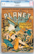 Golden Age (1938-1955):Science Fiction, Planet Comics #17 (Fiction House, 1942) CGC GD+ 2.5 Slightlybrittle pages....