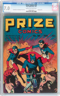 Golden Age (1938-1955):Superhero, Prize Comics #39 (Prize, 1944) CGC FN/VF 7.0 Cream to off-white pages....
