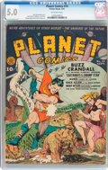 Golden Age (1938-1955):Science Fiction, Planet Comics #14 (Fiction House, 1941) CGC VG/FN 5.0 Off-whitepages....