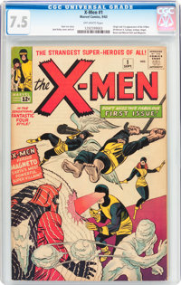 X-Men #1 (Marvel, 1963) CGC VF- 7.5 Off-white pages