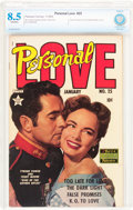 Golden Age (1938-1955):Romance, Personal Love #25 (Famous Funnies Publications, 1954) CBCS VF+ 8.5Off-white pages....