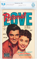 Golden Age (1938-1955):Romance, Personal Love #28 (Famous Funnies Publications, 1954) CBCS VF/NM9.0 White pages....