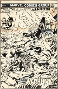 Gil Kane and Dave Cockrum X-Men #95 Cover Original Art (Marvel, 1975)
