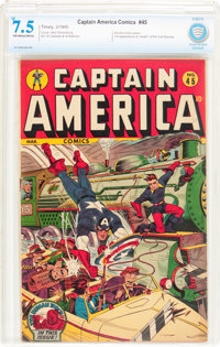 Captain America Comics #45 (Timely, 1945) CBCS VF- 7.5 Off-white to white pages