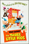 """Movie Posters:Animation, The Three Little Pigs (Buena Vista, R-1968). One Sheet (27"""" X 41""""). Animation.. ..."""