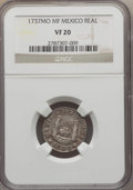 Mexico, Mexico: Philip V Real 1737 Mo-MF VF20 NGC,...