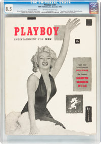 Playboy #1 Newsstand Edition (HMH Publishing, 1953) CGC VF+ 8.5 Off-white to white pages