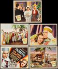 """Movie Posters:Musical, The Sheik Steps Out (Republic, 1937). Title Lobby Card & Lobby Cards (4) (11"""" X 14""""). Musical.. ... (Total: 5 Items)"""