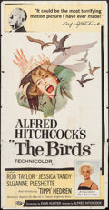 """Movie Posters:Hitchcock, The Birds (Universal, 1963). Three Sheet (41"""" X 78.5""""). Hitchcock....."""