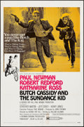 "Movie Posters:Western, Butch Cassidy and the Sundance Kid (20th Century Fox, 1969). One Sheet (27"" X 41"") Style B. Western.. ..."
