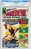 Silver Age (1956-1969):Superhero, Daredevil #1 Don/Maggie Thompson Collection Pedigree (Marvel, 1964) CGC NM- 9.2 Off-white to white pages....