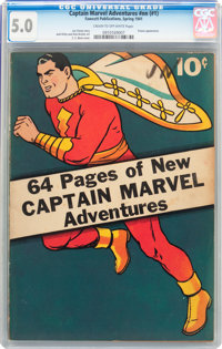 Captain Marvel Adventures #nn (#1) (Fawcett Publications, 1941) CGC VG/FN 5.0 Cream to off-white pages