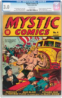 Mystic Comics #4 (Timely, 1940) CGC GD/VG 3.0 Off-white pages