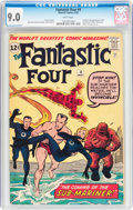 Silver Age (1956-1969):Superhero, Fantastic Four #4 (Marvel, 1962) CGC VF/NM 9.0 White pages....