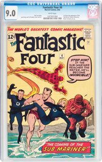 Fantastic Four #4 (Marvel, 1962) CGC VF/NM 9.0 White pages