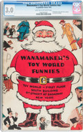 Golden Age (1938-1955):Humor, Toy World Funnies #nn Wanamaker's Giveaway (Eastern Color, 1933) CGC GD/VG 3.0 Light tan to off-white pages....