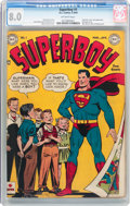 Golden Age (1938-1955):Superhero, Superboy #1 (DC, 1949) CGC VF 8.0 Off-white pages....