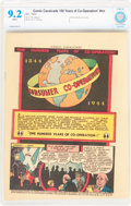 Golden Age (1938-1955):Non-Fiction, Comic Cavalcade 100 Years of Co-Operation! #nn (DC, 1944) CBCS NM- 9.2 White pages....