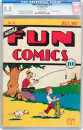 Platinum Age (1897-1937):Miscellaneous, More Fun Comics #22 (DC, 1937) CGC FN- 5.5 Off-white pages....