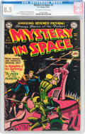 Golden Age (1938-1955):Science Fiction, Mystery in Space #3 (DC, 1951) CGC VF+ 8.5 Off-white to white pages....