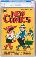 Golden Age (1938-1955):Cartoon Character, New Comics #10 (DC, 1936) CGC VG/FN 5.0 Cream to off-white pages....